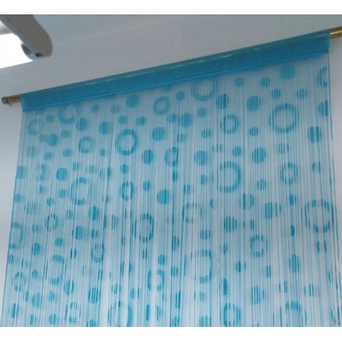 Έτοιμη κουρτίνα διακοσμητική γαλάζιο